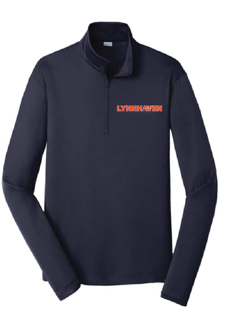 Men's 1/4 Zip Athletic Pullover / Navy / Lynnhaven Staff - Fidgety