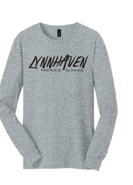 Lynnhaven Graffiti Long Sleeve T-Shirt / Gray / LMS - Fidgety