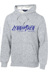 Lynnhaven Graffiti Fleece Hooded Sweatshirt / Ash Gray / LMS - Fidgety
