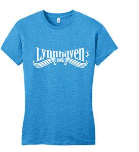 Lynnhaven Swirl Tri-Blend T-Shirt / Turquoise Frost / LMS - Fidgety