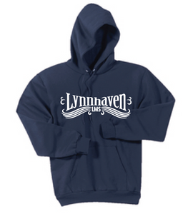 Lynnhaven Swirl Fleece Hooded Sweatshirt / Navy / LMS - Fidgety