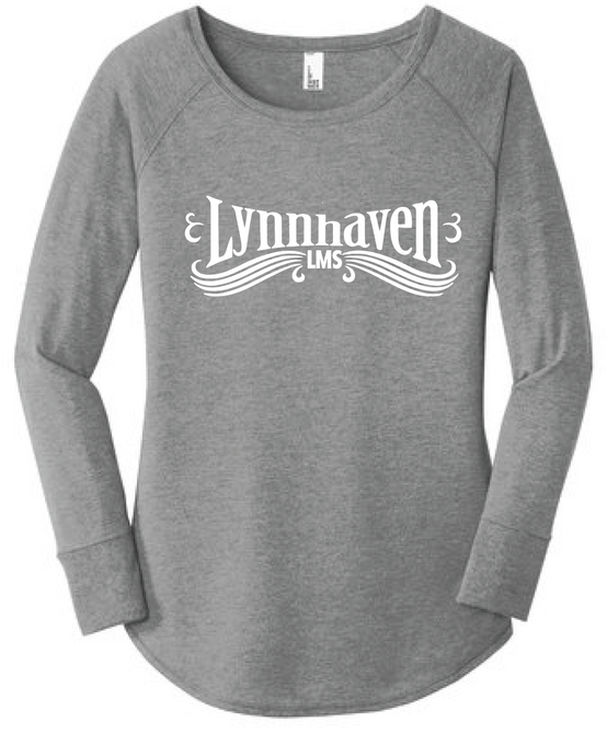 Women's Triblend Long Sleeve Tunic Tee / Heather Gray / Lynnhaven Staff - Fidgety