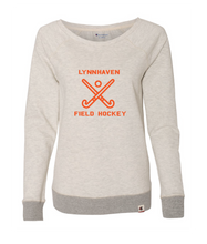 Champion French Terry Boat Neck Sweatshirt / Oatmeal Heather & Gray / LMS Field Hockey - Fidgety