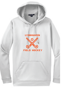 Performance Hoody Sweatshirt / White / Lynnhaven Field Hockey - Fidgety