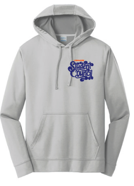 Performance Fleece Pullover Hooded Sweatshirt (Youth & Adult) / Silver / LMS Student Council