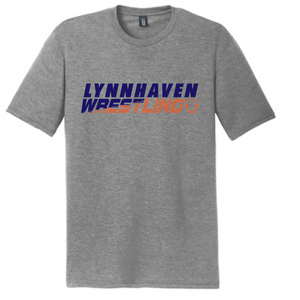 Softstyle Short Sleeve T-Shirt (Youth & Adult) / Heather Gray / Lynnhaven Middle Wrestling