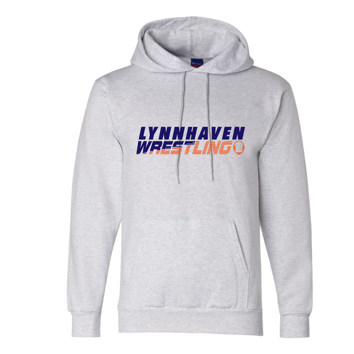 Fleece Hooded Sweatshirt (Youth & Adult) / Ash Gray / Lynnhaven Middle Wrestling