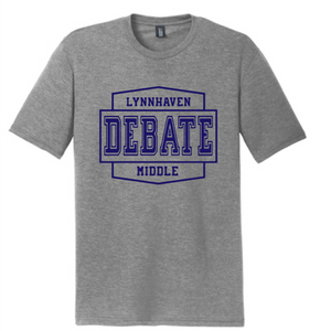 Softstyle Short Sleeve T-Shirt /  Heather Gray / Lynnhaven Debate