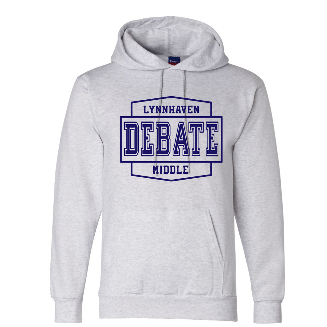 Fleece Hooded Sweatshirt / Ash Gray / Lynnhaven Debate