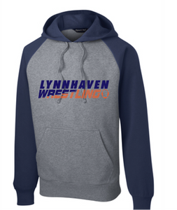 Colorblock Hooded Sweatshirt / Navy & Vintage Heather / Lynnhaven Middle Wrestling