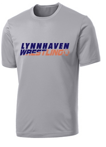 Performance Dri-Fit Short Sleeve Shirt (Youth & Adult) / Silver / Lynnhaven Middle Wrestling