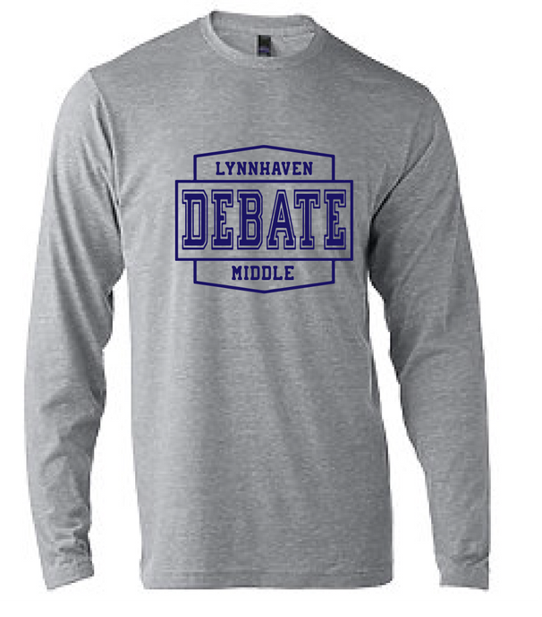 Softstyle Long Sleeve T-Shirt / Heather Gray / Lynnhaven Debate