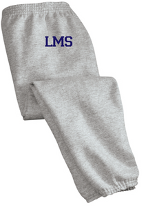 Essential Fleece Sweatpant with Pockets & Cinch Bottom (Youth & Adult) / Athletic Heather / Lynnhaven Middle Wrestling