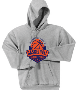 Hooded Sweatshirt / Ash Gray / Lynnhaven Basketball - Fidgety