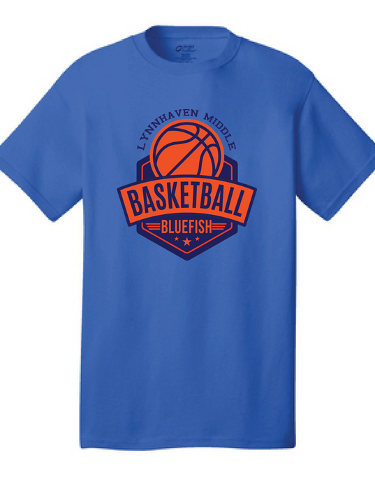 Short Sleeve T-Shirt  /  Blue / Lynnhaven Basketball - Fidgety