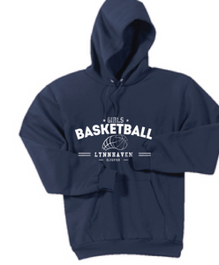 Hooded Sweatshirt  /  Navy / Lynnhaven Girls Basketball - Fidgety