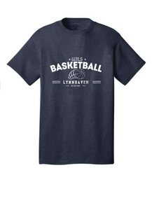 Short Sleeve T-Shirt  /  Navy / Lynnhaven Girls Basketball - Fidgety