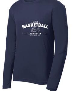 Performance Long Sleeve T-shirt  /  Navy / Lynnhaven Girls Basketball - Fidgety