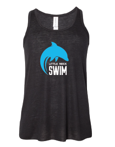 Youth Flowy Racerback Tank / Black / Little Neck Dolphins - Fidgety