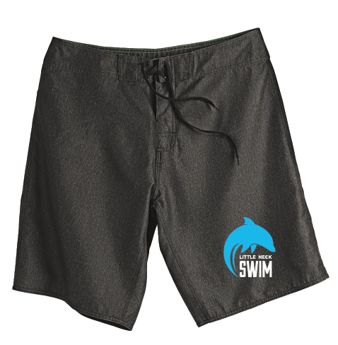 Board Shorts / Heathered Black / Little Neck Dolphins - Fidgety