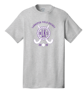 Cotton T-Shirt / Ash Gray / Larkspur Field Hockey - Fidgety