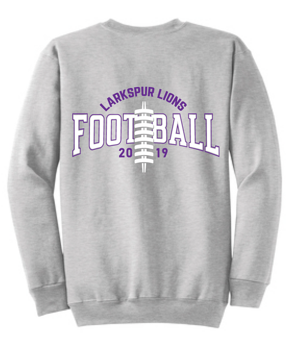 Crew neck Sweatshirt / Athletic Gray  / Larkspur Football - Fidgety