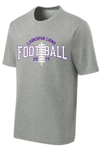 PosiCharge RacerMesh Short Sleeve Tee / Heather Gray / Larkspur Football - Fidgety