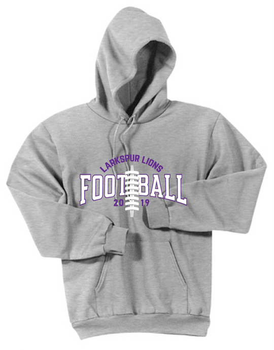 Fleece Hooded Sweatshirt / Ash Gray / Larkspur Football - Fidgety