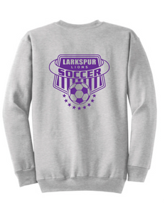 Crew neck Sweatshirt / Athletic Gray  / Larkspur Boys Soccer - Fidgety