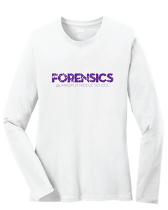 Long Sleeve Shirt / White / Larkspur Forensics - Fidgety