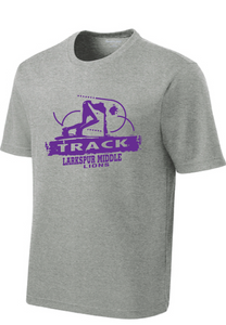 Performance Tee / Heather Gray / Larkspur Track - Fidgety