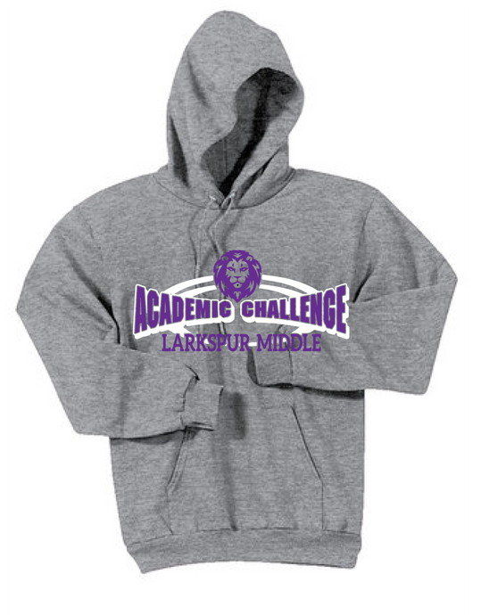 Fleece Hooded Sweatshirt _/ Ash Gray / Larkspur Academic Challenge