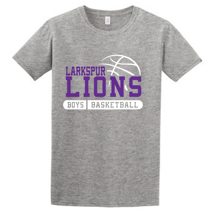 Tri-blend Short Sleeve T-Shirt (Youth & Adult) / Heather Grey / Larkspur Basketball
