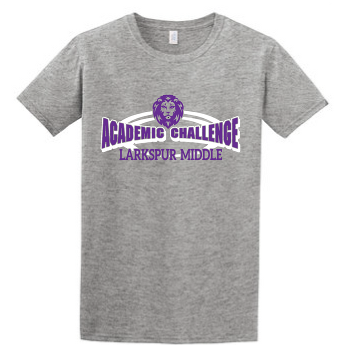 Tri-Blend Short Sleeve T-Shirt (Youth & Adult) / Heather Grey / Larkspur Academic Challenge