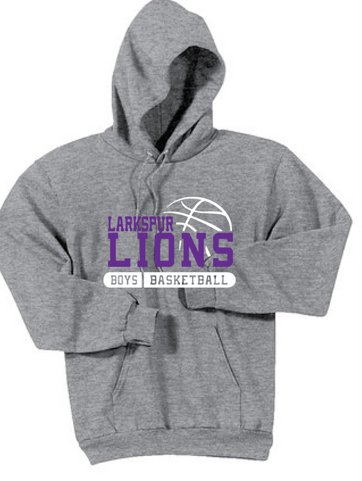 Fleece Hooded Sweatshirt / Ash Gray / Larkspur Basketball