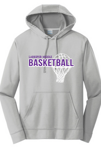 Performance Hooded Sweatshirt (Youth & Adult) / Silver / Larkspur Girls Basketball