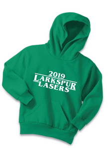 Fleece Hoody (Youth & Adult) / Kelly Green / Larkspur Lasers Swim - Fidgety