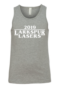 Youth Tank / Heather Gray / Larkspur Lasers Swim - Fidgety