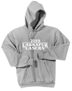 Fleece Hoody (Youth & Adult) / Athletic Gray / Larkspur Lasers Swim - Fidgety