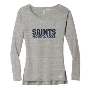 Ladies Luuma Long Sleeve Tunic / Petrol Grey Heather / Saints-[product_collection]