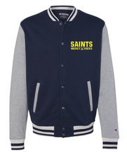 Champion Unisex Bomber Jacket / Navy & Oxford Grey / Saints-[product_collection]