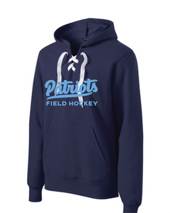 Lace Up Pullover Hooded Sweatshirt / Navy / FC Field Hockey - Fidgety