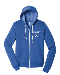 Unisex Sponge Fleece Full-Zip Hoodie / Heather True Royal / FC Field Hockey - Fidgety