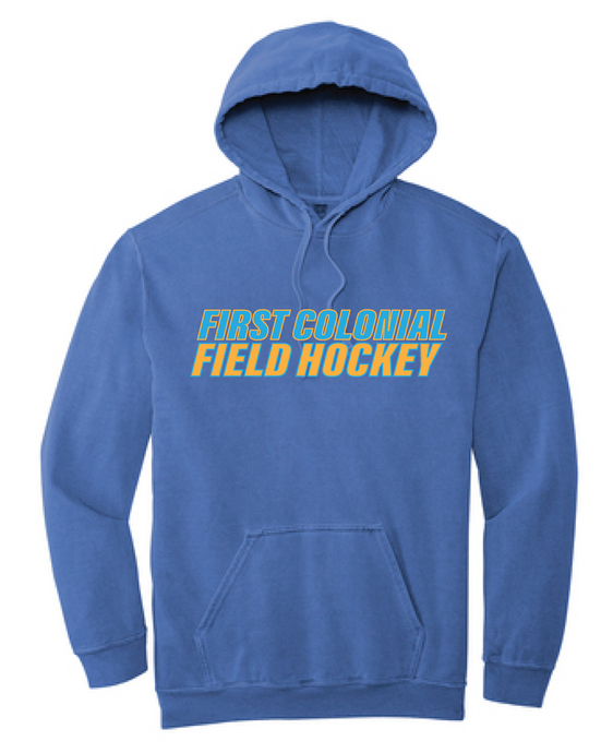 Comfort Colors Ring Spun Hooded Sweatshirt / Pepper / FC Field Hockey - Fidgety