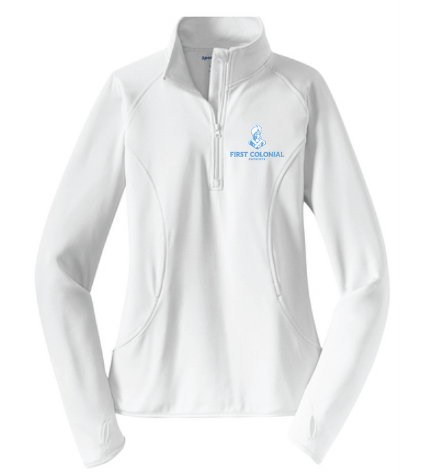 Ladies Sport-Wick Stretch 1/2-Zip Pullover / White / FC Field Hockey - Fidgety