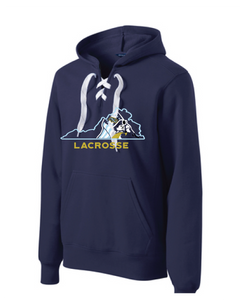 Lace Up Pullover Hooded Sweatshirt / Navy / FC Lacrosse - Fidgety
