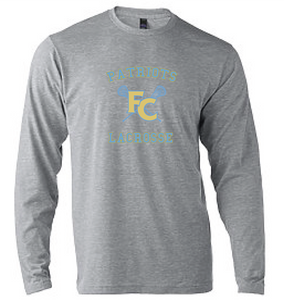 Softstyle Long Sleeve T-Shirt / Heather Grey / FC Lacrosse - Fidgety