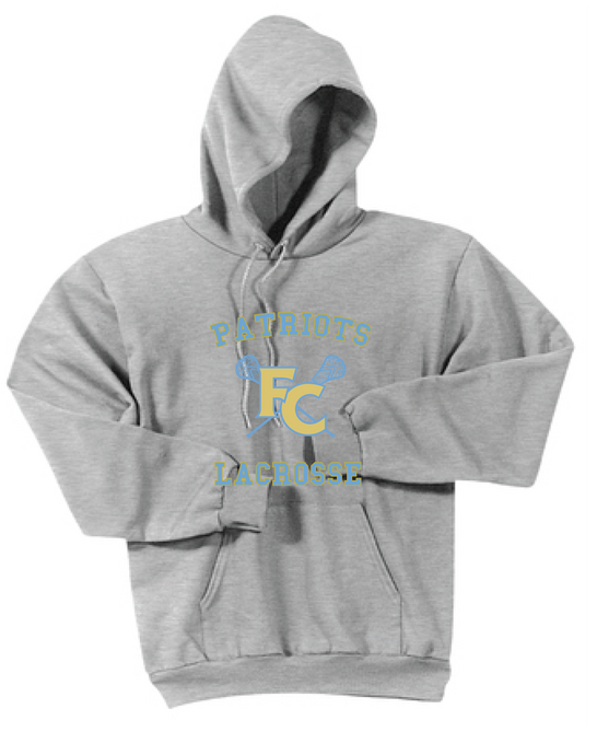 Core Fleece Pullover Hooded Sweatshirt / Ash Gray / FC Lacrosse - Fidgety