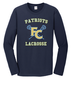 Softstyle Long Sleeve T-Shirt / Navy / FC Lacrosse - Fidgety