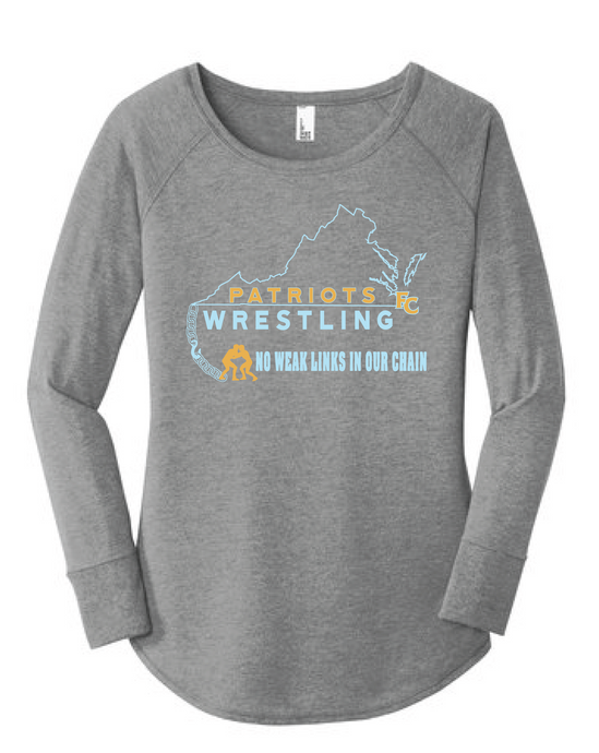 Women's Perfect Triblend Long Sleeve Tunic Tee / Heather Gray / FC Wrestling